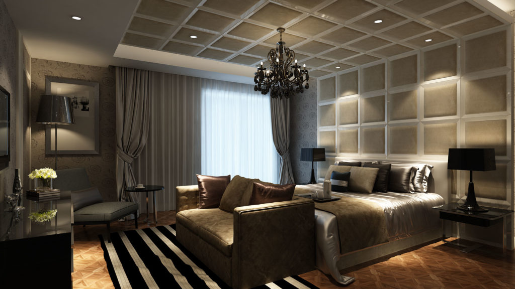 3d architectural rendering for a hotel interior design project created using Autodesk 3dsMax and photoshop by The Engineering Design.