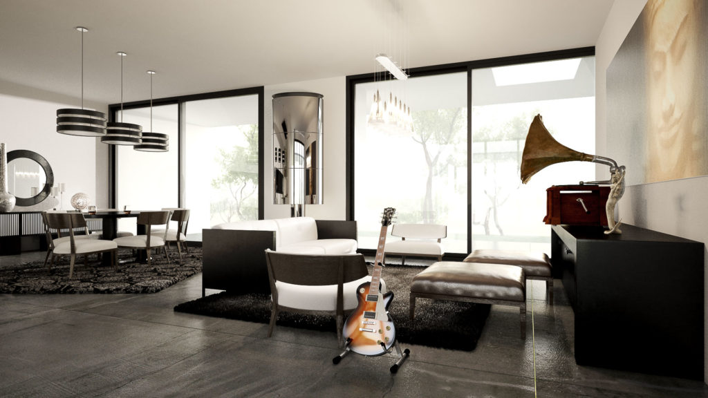 Interior design rendering created using Autodesk 3dsMax and Vray by The Engineering Design.