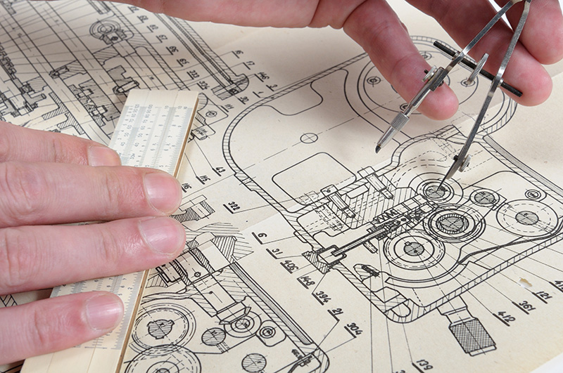machine design drawings