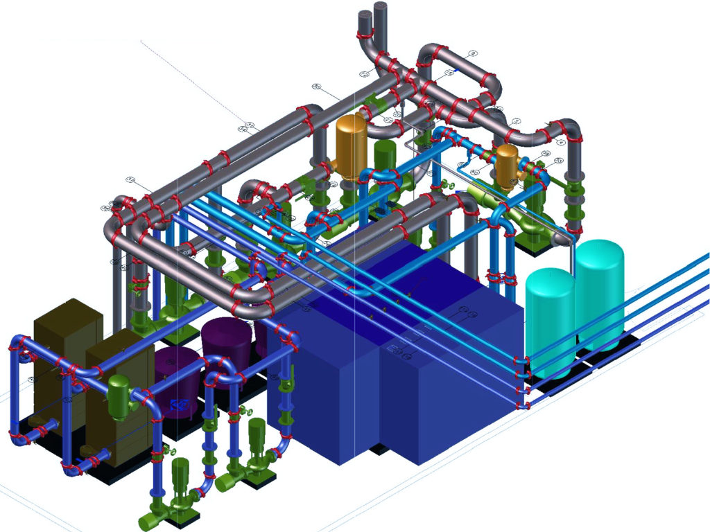 Advantages Of Coordinated Mechanical Room Shop Drawings The Hvac Drawing Conventions Engineering Design Technology