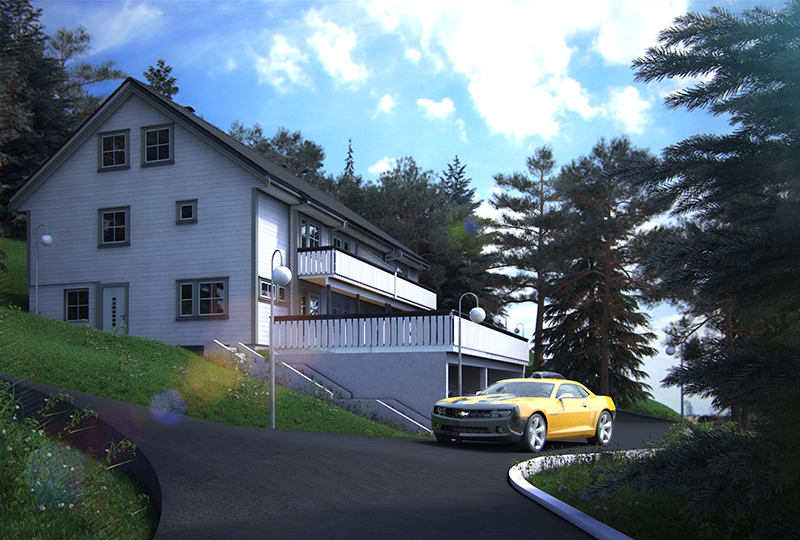 Before-Exterior rendering